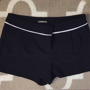 Express tailored mid rise shorts